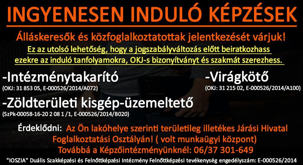 Komárom-Esztergom megye - Ingyenes képzések - Felnőttképzés - felnottkepzes.hu - IOSZIA
